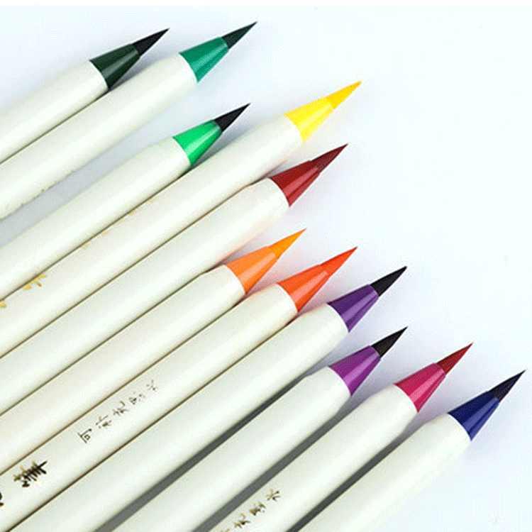 Liupintang Colore Nuovo Pennello Morbido Penna Del Fumetto Pennello Piccolo Script di Regolare Pennello Pittura Ad Acquerello Penna Linea Disegno a Penna Penna