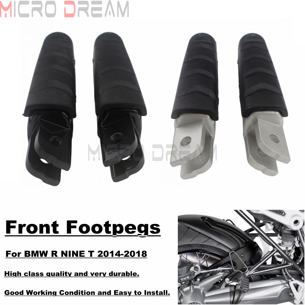 Motorcycle Front Rear Footrests Footpegs For BMW R NINE T 2014-2018 Cafe Racer R9T