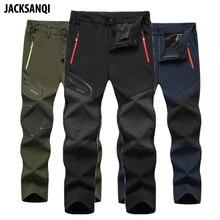 JACKSANQI Hot Summer Men's 6XL Hiking Outdoor Sports Trekking Fishing Camping Climbing Trousers Plus Size Oversized Pants RA355