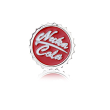 Hot Game Series Nuka Cola Pins Brooches High Quality Cute Simple Style Alloy Badge Newest Red Enamel Brooch For Men Women