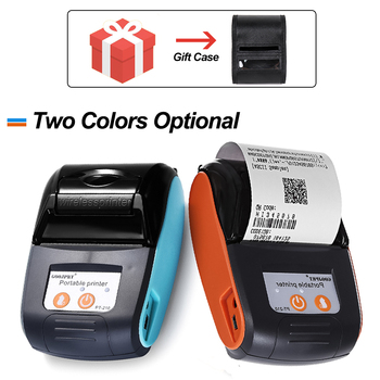Bezpłatna SDK 58mm przenośna mobilna drukarka Bluetooth bezprzewodowa Bluetooth Mini termiczna drukarka paragonów obsługuje telefon android ios