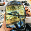 500-1500 г натуральный кристалл лунный камень необработанный зеркальный полированный кварц Лабрадорит ручная работа Восстанавливающий камен...