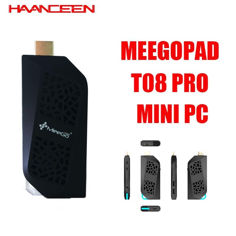 Intel Atom Cherry Trail X5-Z8350 Windows 10 Meegopad T08 Pro MINI PC 4G RAM 64G ROM Type-C Computer Stick Wtih Fan TV Box