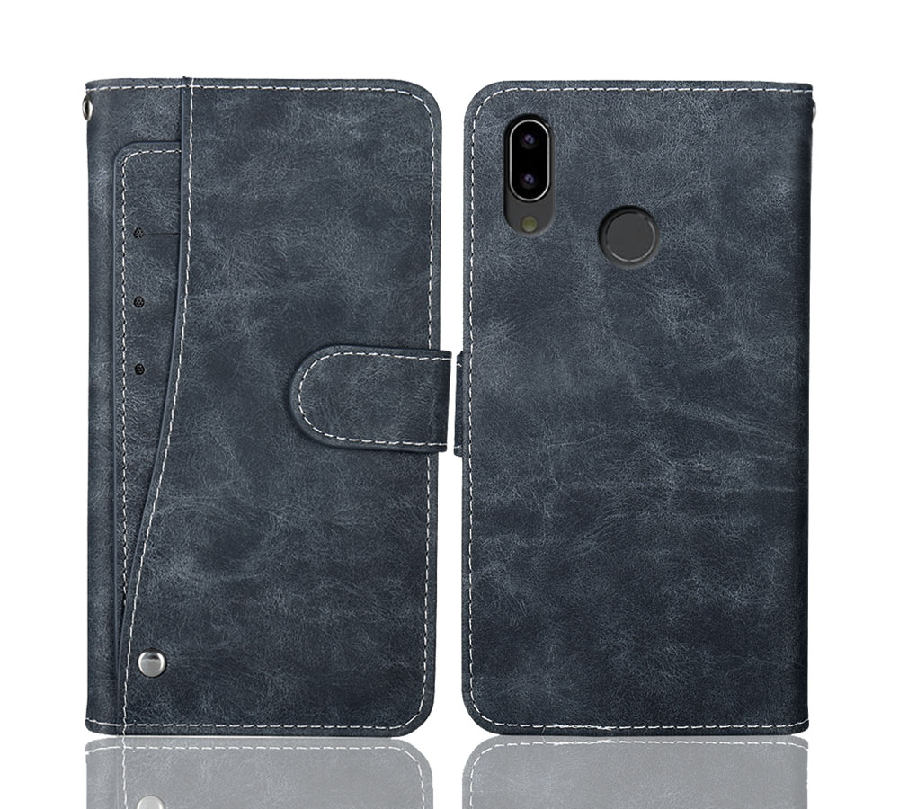 """Luxury Wallet BQ 6035L Strike Power Max Case 6"""" Vintage Flip Leather Cases Business Protective Cover With Front Card Slots"""