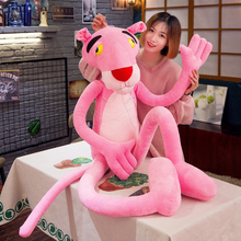 60cm cute naughty pink leopard plush toy doll baby companion home decoration