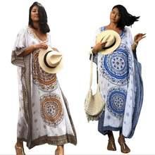 Женское длинное платье цезия размера плюс Хлопковое Кафтан с