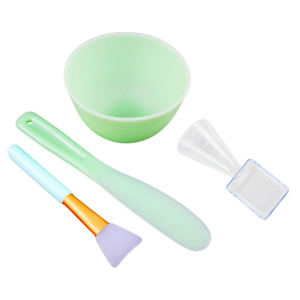 DIY Silicone Facial Masks Making Bowl With Stick Brush Spoon DIY Cosmetic Tools Mixing Bowl Set Beauty Makeup Devices