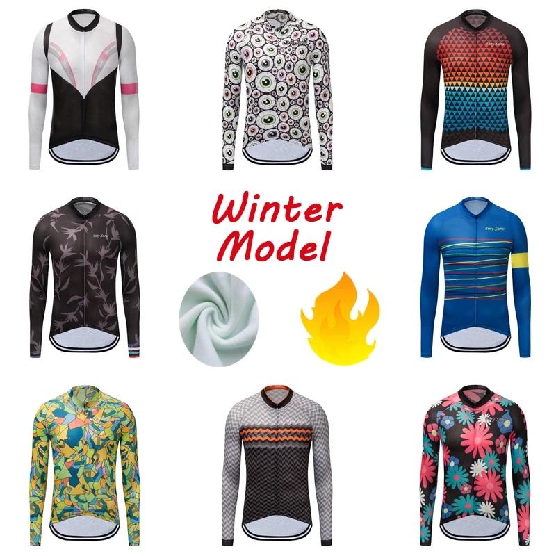 Winter cycling Jersey 2020 Men thermal fleece bicycle shirt long sleeve bike Top