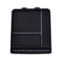 Caixa de armazenamento console apoio de braço central do carro preto para toyota land cruiser prado 120