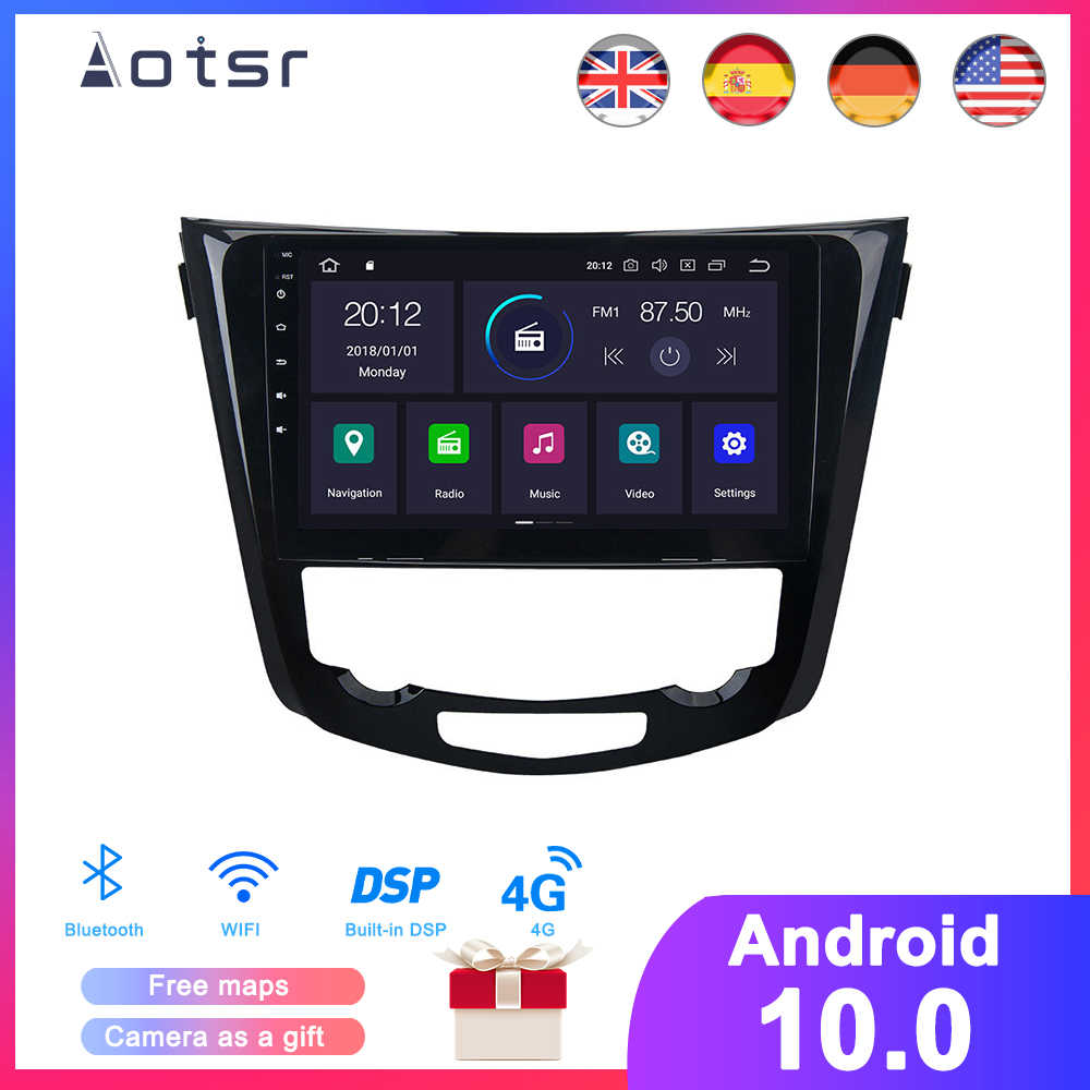 DSP Android 10 Auto GPS Navigation DVD Player Für Nissan X-Trail/Qashqai 2013-2018 Auto Radio multimedia Player Steuergerät Recorder