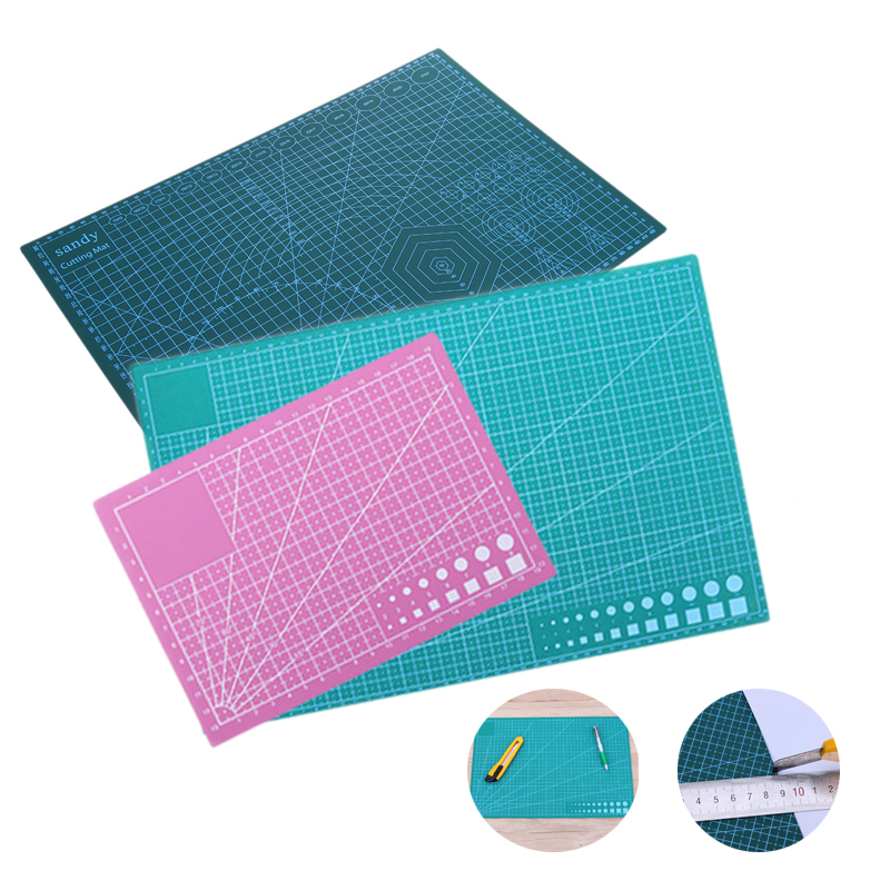 A5 A3 Professional PVC Cutting Board One /Double Side Self-healing Non Slip DIY Patchwork Mat Cutting Mat А3 A5
