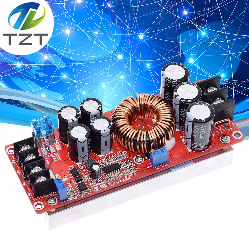 TZT 1200W 20A DC Converter Boost Step-up Power Supply Module IN 8-60V OUT 12-83V