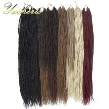 Yxcherishair sintético senegalês torção trança cabelo ombre longo marrom cinza crochê extensões senegal tranças