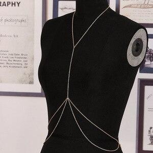 1 Pc Newest Fashion Sexy Body Chain Harness Crossover Belly Waist Bikini Beach Slave Fashion Jewelry Summer Wear Nice Gift(China)