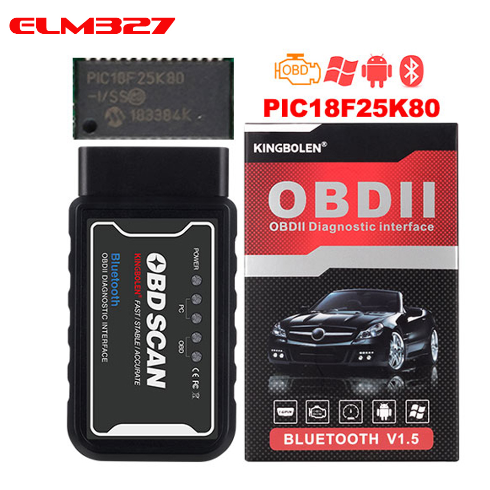 kingbolen obd diagnostic elm 327 Pic18f25k80 Chip Mini elm327 WiFi BT OBDII V1 5 Code Reader obd 2 elm 327 Wifi Scanner
