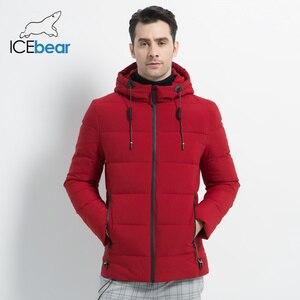Image 3 - ICEbear 2019 חדש גברים של חורף מעיל באיכות גבוהה גברים של מעיל ברדס זכר מעיל לעבות חם גבר הלבשה MWD18925I