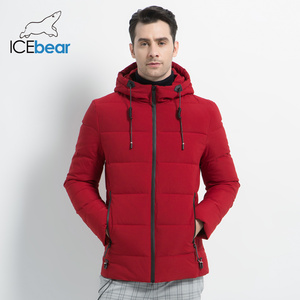 Image 3 - ICEbear Chaqueta gruesa de invierno para hombre, abrigo masculino de alta calidad con capucha, ropa de abrigo gruesa, MWD18925I, 2019