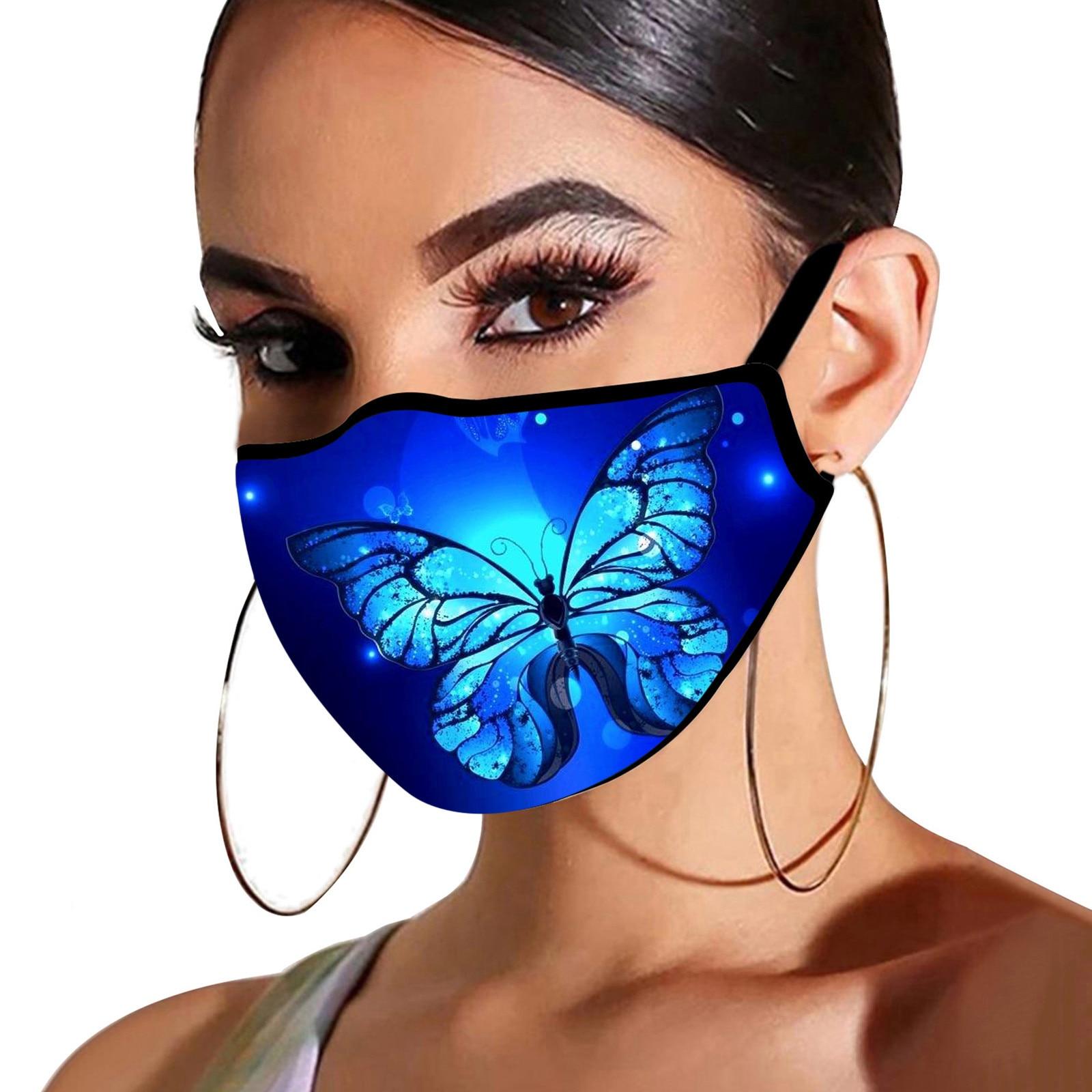 1 шт. с принтом «бабочка» mondkapjes выполнены фильтр маски для взрослых дышащая уход за кожей лица моющийся хлопковая маска ткань моющиеся