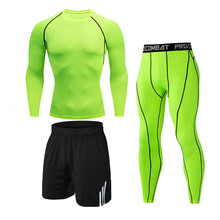 Running Jogging Tracksuit Compression-Clothes Workout-Tights Sport-Wear Exercise Gym
