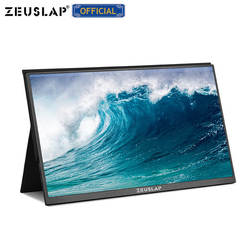 ZEUSLAP 15.6 pollici USB C HDMI 1920*1080P PD HDR Monitor con orificio del Trasduttore Auricolare del Metallo Ultrasottile Schermo Portatile gaming Monitor