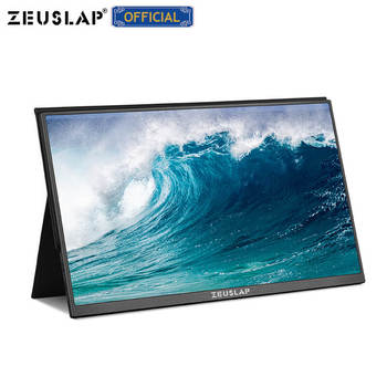 ZEUSLAP 15.6inch USB C HDMI 1920*1080P PD HDR Monitor with Earphone port Metal Ultrathin Portable Screen Gaming Monitor