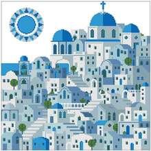Узоры с голубым замком вышивка крестиком 11ct 14ct 18ct китайские
