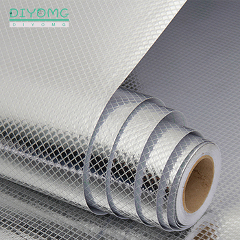 Kitchen Oil-proof Self Adhesive Stickers Anti-fouling High-temperature Aluminum Foil Waterproof Gas Stove Contact Wallpaper