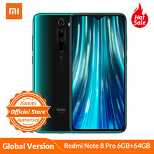 Version mondiale Xiaomi Redmi Note 8 Pro 6GB 64GB téléphone portable 64MP Quad caméra MTK Helio G90T Octa Core Smartphone 4500mAh NFC(China)