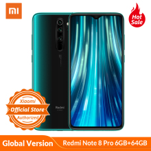 Xiaomi Helio G90T Redmi Note-8 Pro 64GB LTE/WCDMA/GSM NFC Quick Charge 3.0 Bluetooth 5.0/Game turbogpu turbo/Gorilla glass/Liquidcool