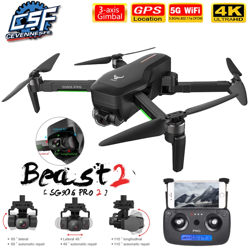 2020 NWE SG906/SG906 Pro 2 drone 4k HD mechanical 3 Axis gimbal camera 5G wifi gps system supports TF card drones distance 1.2km|RC Helicopters| - AliExpress