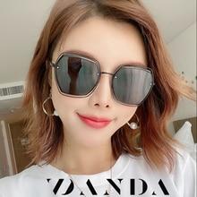 Womens fashion irregular polarized gradient sun glasses for female  outdoor driving glasses UV400 goggles luxury brand retro