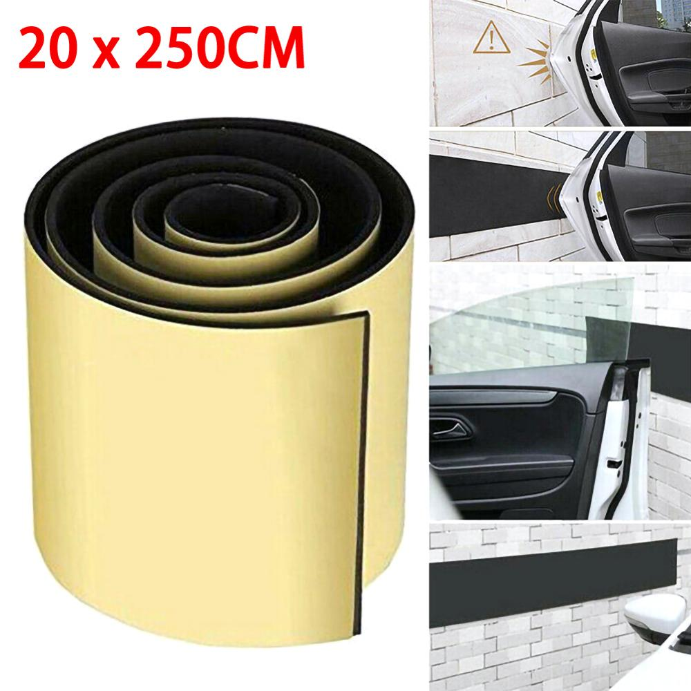 6mm 250x20cm Car Door Protector Garage Rubber Wall Guard Bumper Safety Parking Damping Sticker Car Styling Waterproof Stickers