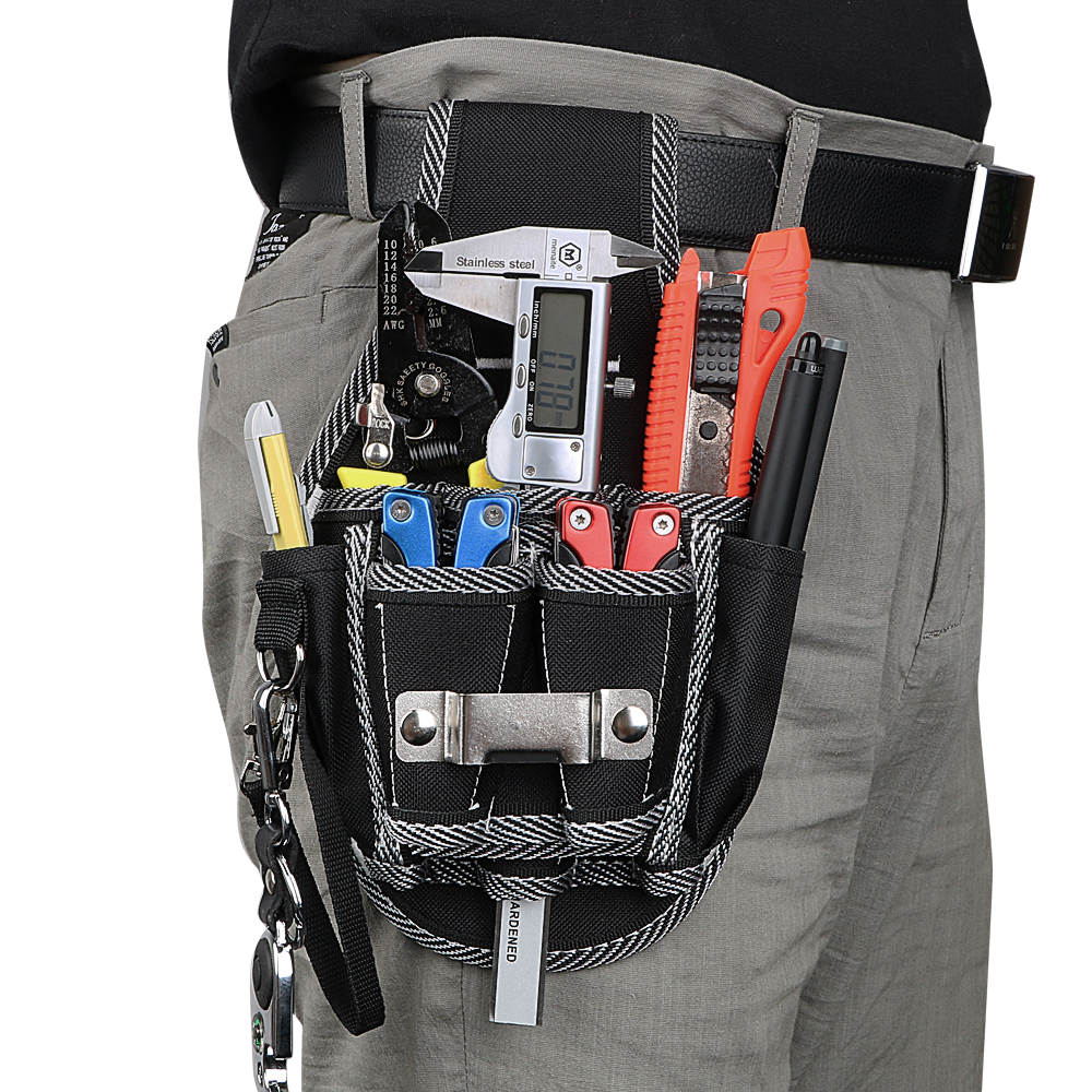 NICEYARD Portable Drill Hammer Storage Drill Screwdriver Utility Kit Holder Waist Pocket Tool Belt Pouch Bag Carpenter Tool Bag