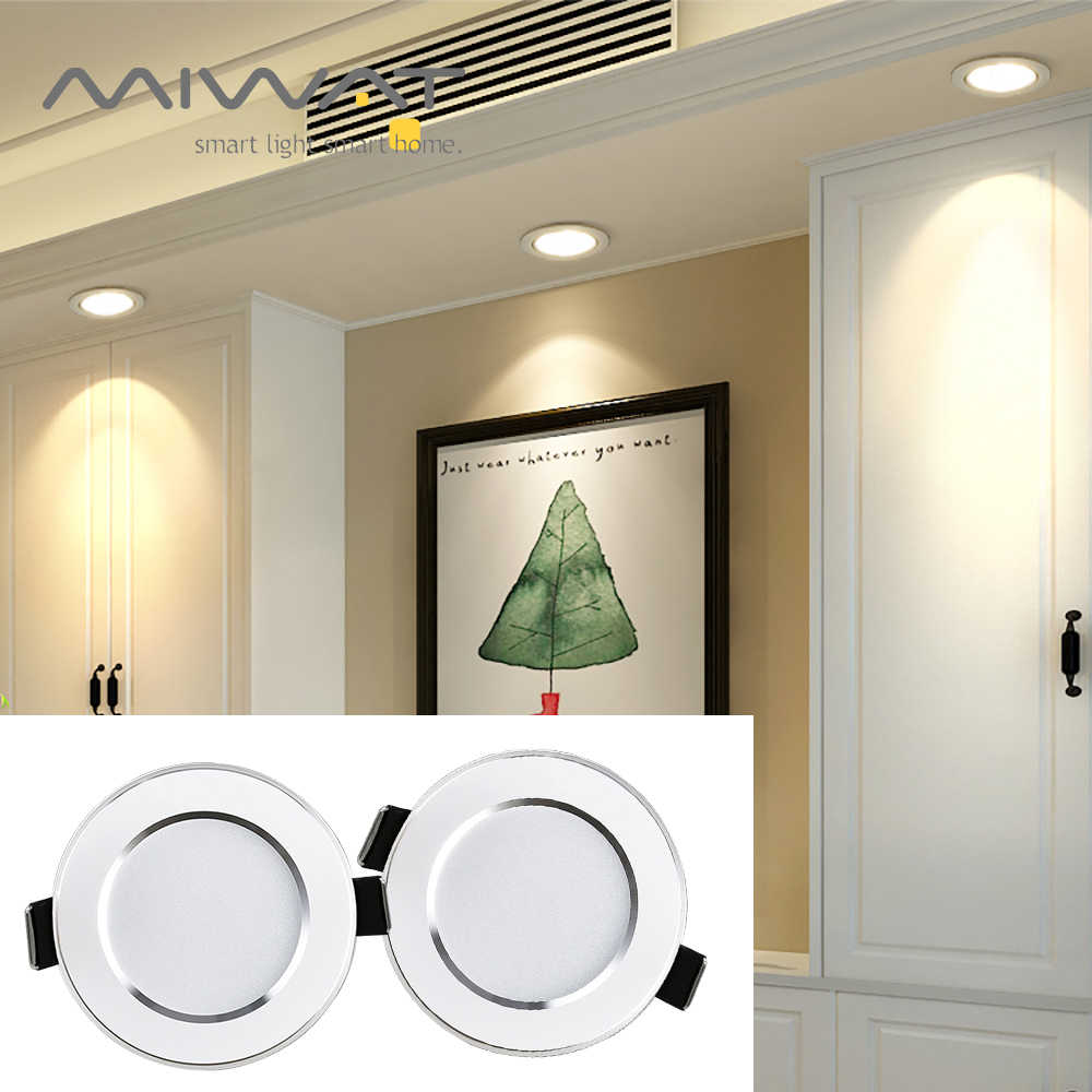 LED Downlight Tricolor Ceiling Light 5W 9W 12W 15W Donw Light AC 220 V-240 V Indoor Ruang Tamu Koridor Pencahayaan LED