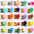 30 шт., 10 дюймов 12 дюймов матовый латексный воздушный шар для маленьких девочек, розовый, красный, синий, зеленый, детского дня рождения воздуш...