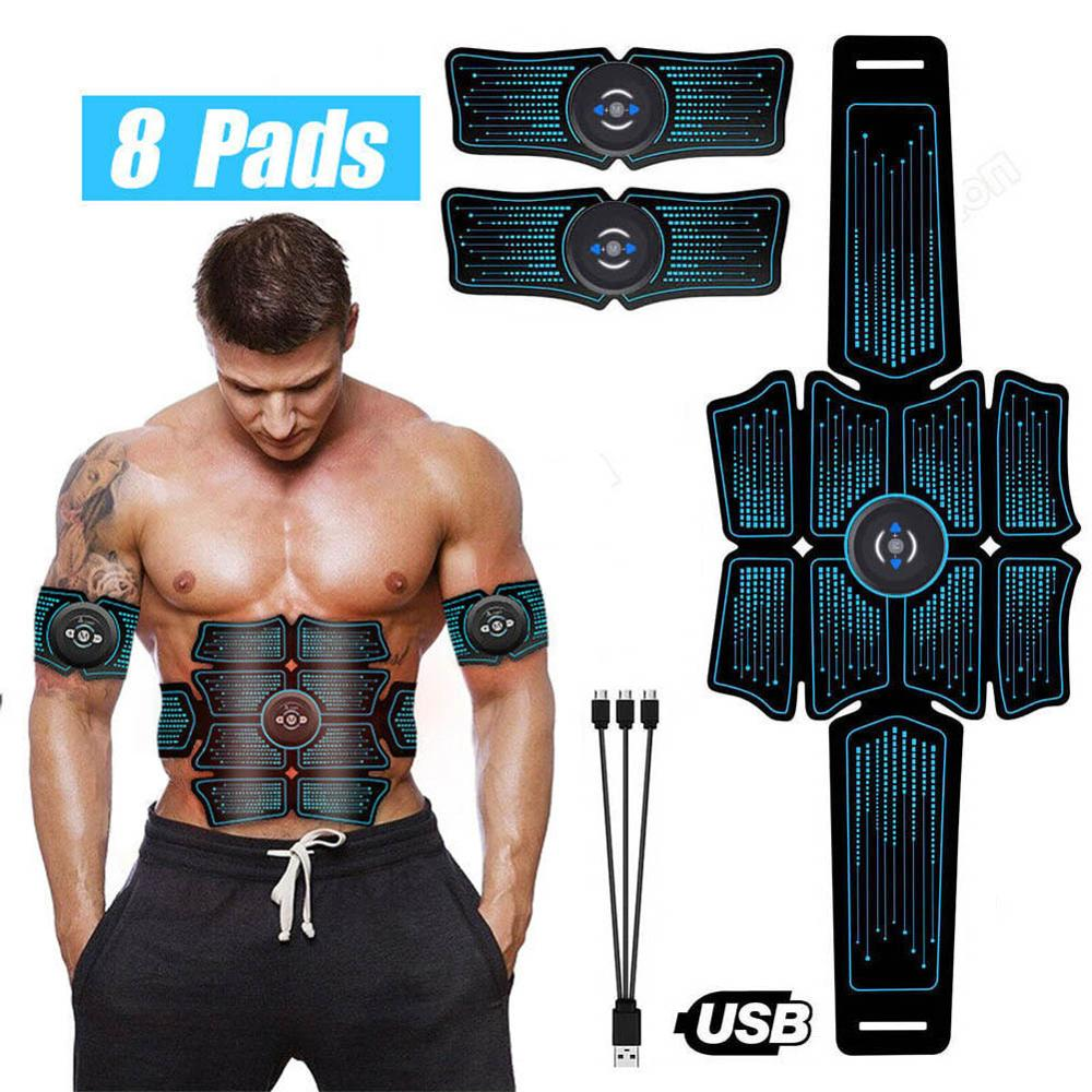 EMS Wireless Smart Muscle Fitness Abdominal Muscle Paste Fitness Equipment Abdominal Massage Device Unisex