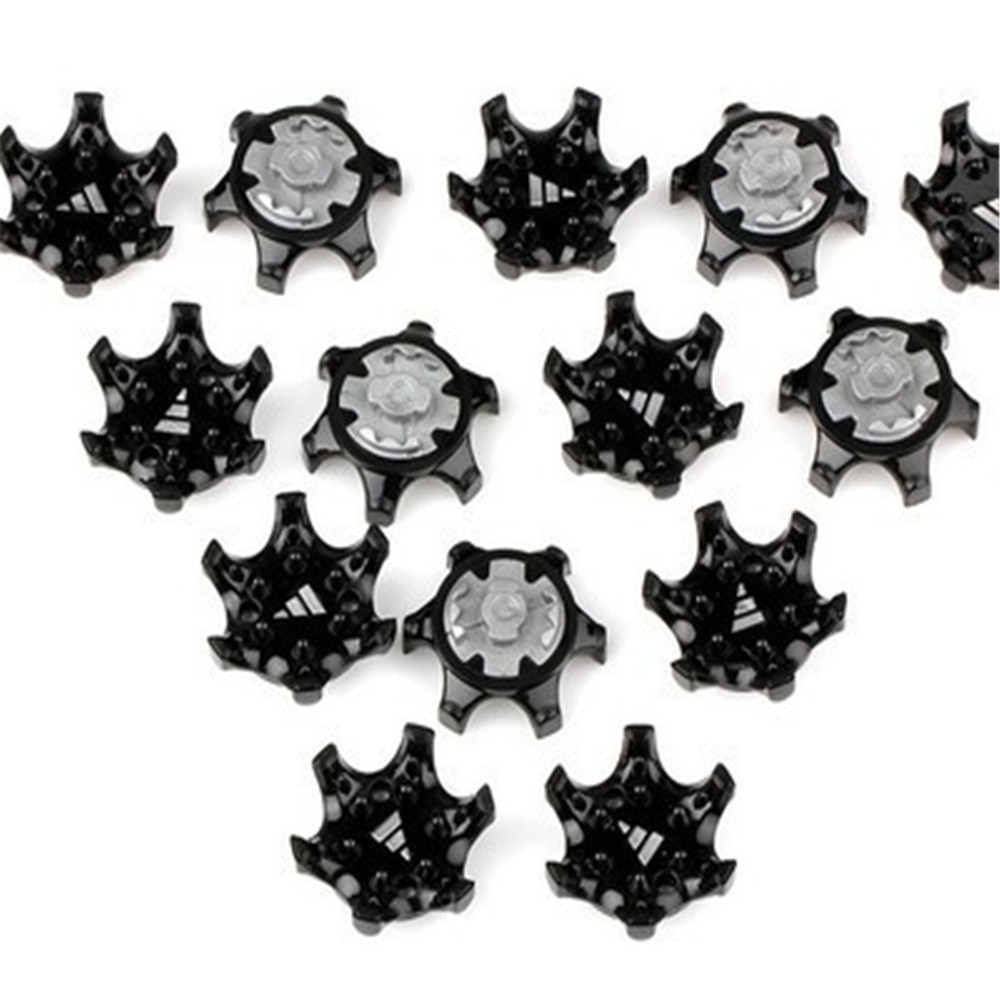 Hot Sale 14PCS Black Golf Shoes Soft Spikes Pins Turn Fast Twist Shoe Spikes Replacement Set Golf Training Aids High Quality