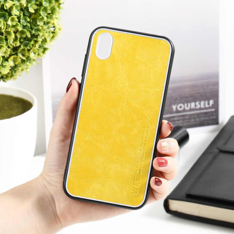 Tecidos caso de telefone para huawei honor 8 s 8x moda capa de couro macio para trás capa para huawei honor 10i 10 lite capa