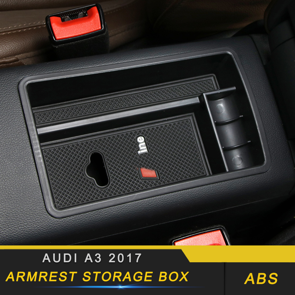 For Audi A3 2017 Car Styling Armrest Storage Organizing Box Interior Accessories