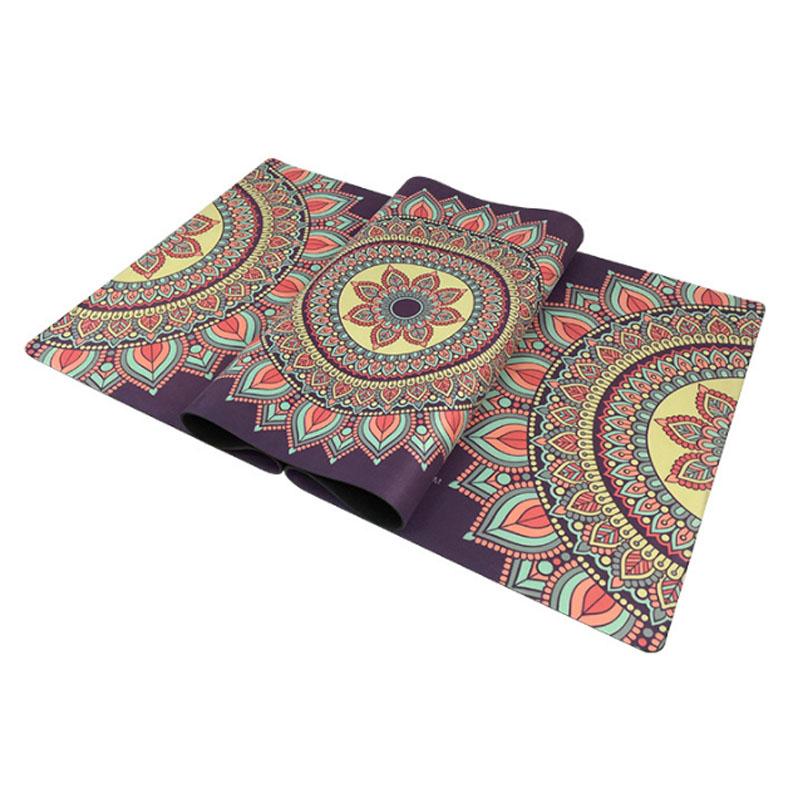 Yoga mat beginner suede green rubber flower mat non-slip sweat fitness mat carpet goddess mat 3 .5mm