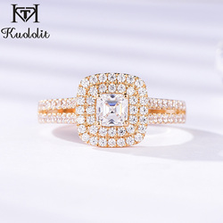 Kuololit 9K Yellow White Gold 100% Natural moissanite Lab diamonds Rings for Women Wedding Engagement Bride Gifts Fine Jewelry
