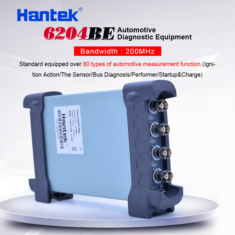 Hantek 6204BE 200MHz Automotive oscilloscope 4 Channels 1Gsa/s Portable USB PC Handheld Digital Osciloscopio Diagnostic-tool