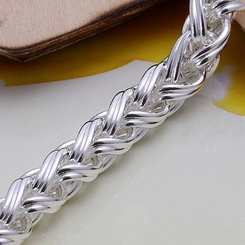 Creative twist circle chain women men silver color bracelets new high -quality fashion jewelry Christmas gifts H070 3