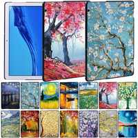 Tablets Case for Huawei MediaPad T5 10 10.1 Inch Anti-Fall Paint Series Hard Cover Case + Free Stylus