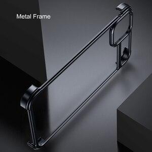 Image 3 - Funda de teléfono con marco de Metal para iPhone 11 11 pro, carcasa magnética para teléfono iPhone 11 pro max
