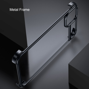 Image 3 - New Metal Frame Phone Case For Iphone11 11pro Magnetic Attraction Bare Machine Feel Drop proof Phone Cover For Iphone11 pro max