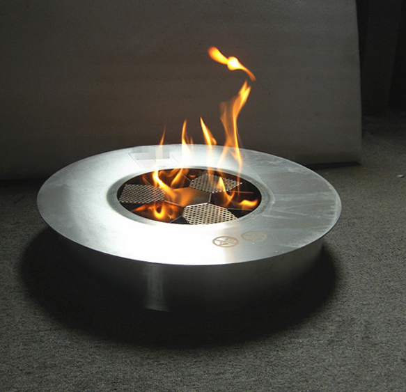 Hot Sale Chimney Fireplace Round Bio Fuel Fireplace Burner