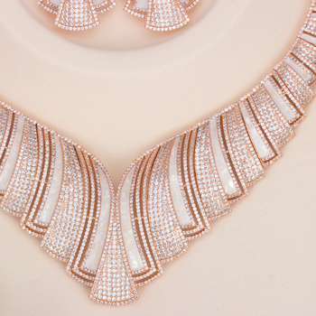 Zircon Indian African Bridal Jewelry Set 2019 African Beads Jewelry Set China Fashion Jewelry Set Suppliers 3