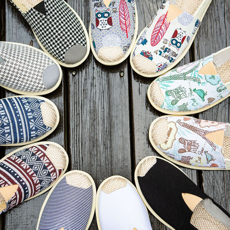 Spring Summer Shoes New Style Women's Casual Fashion Breathable  Korean-style Slip-on Trend Print Driving Useful Flat Shoes