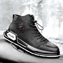 Men Shoes Fashion Autumn genuine Leather Footwear For Man New High Top lace up Casual Shoes Men sneakers handmade shoes k3 недорого